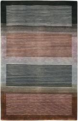 Hand-knotted Mandara Geometric Wool Rug (7'9 x 10'6) - Thumbnail 2
