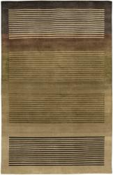 Artist's Loom Hand-knotted Contemporary Geometric Rug (7'9 x 10'6) - Thumbnail 1