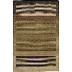 Artist's Loom Hand-knotted Contemporary Geometric Rug (7'9 x 10'6) - Thumbnail 0