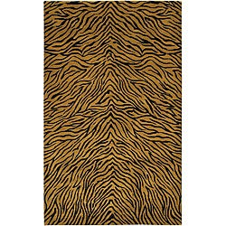 Artist's Loom Hand-knotted Transitional Animal Print Wool Rug (7'9x10'6)