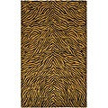 Artist's Loom Hand-knotted Transitional Animal Print Wool Rug - 7'9x10'6