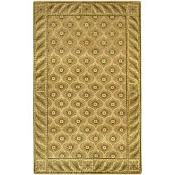 Artist's Loom Hand-knotted Transitional Floral Wool Rug (7'9x10'6) - Thumbnail 0