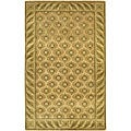Artist's Loom Hand-knotted Transitional Floral Wool Rug (7'9x10'6)