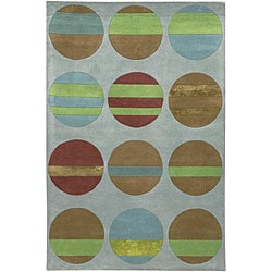 Artist's Loom Hand-tufted Contemporary Geometric Rug (7'9 x 10'6) - Thumbnail 0
