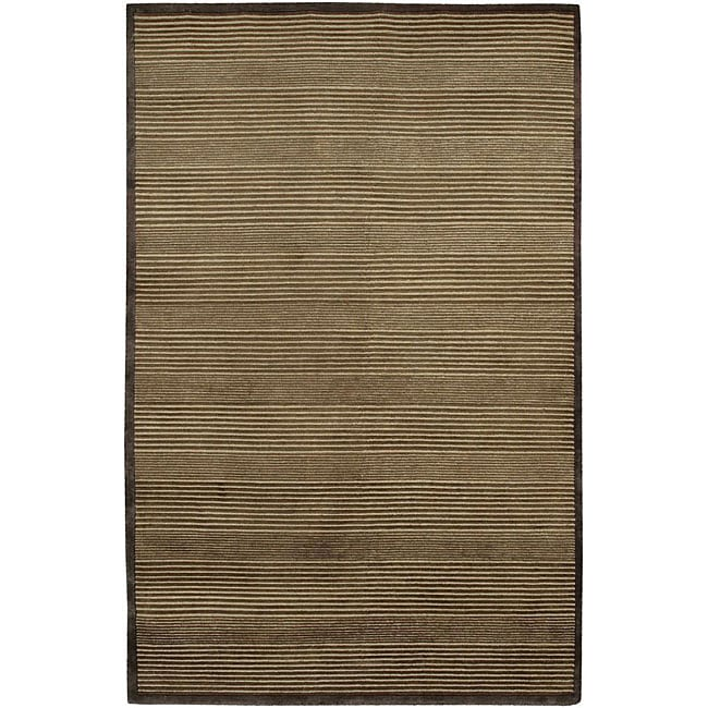 Artist's Loom Hand-knotted Contemporary Geometric Rug - 7'9 x 10'6