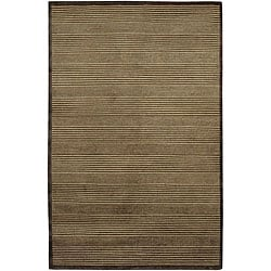 Artist's Loom Hand-knotted Contemporary Geometric Rug - 7'9 x 10'6 - Thumbnail 0