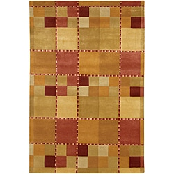 Artist's Loom Hand-knotted Contemporary Geometric Rug (7'9 x 10'6)