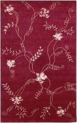 Artist's Loom Hand-knotted Transitional Floral Rug (7'9 x 10'6) - Thumbnail 2