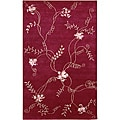 Artist's Loom Hand-knotted Transitional Floral Rug (7'9 x 10'6)