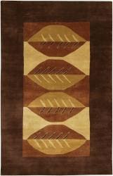 Artist's Loom Hand-knotted Contemporary Geometric Wool Rug (7'9x10'6) - Thumbnail 2