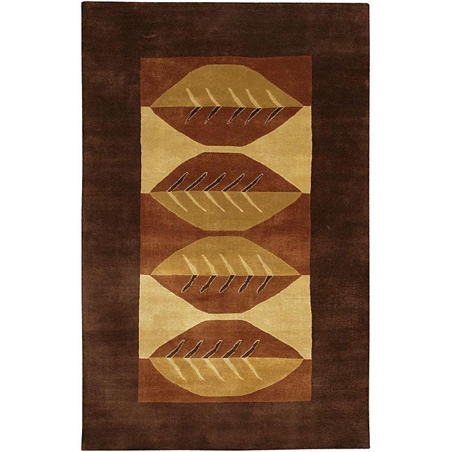 Artist's Loom Hand-knotted Contemporary Geometric Wool Rug - multi - 7'9x10'6