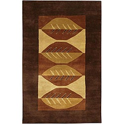 Artist's Loom Hand-knotted Contemporary Geometric Wool Rug - multi - 7'9x10'6 - Thumbnail 0
