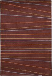 Artist's Loom Hand-tufted Contemporary Geometric Rug (5' x 7'6) - Thumbnail 2