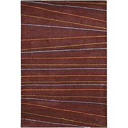 Artist's Loom Hand-tufted Contemporary Geometric Rug - 5' x 7'6 - Thumbnail 0