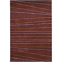 Artist's Loom Hand-tufted Contemporary Geometric Rug - 5' x 7'6