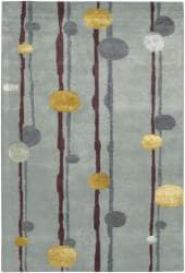 Artist's Loom Hand-tufted Contemporary Geometric Rug (5' x 7'6) - Thumbnail 2