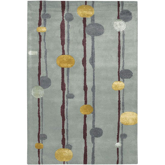 Artist's Loom Hand-tufted Contemporary Geometric Rug (5' x 7'6) - 5' x 7'6