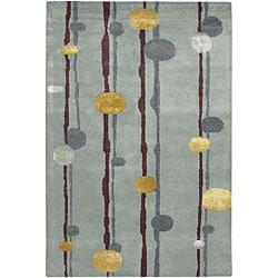 Artist's Loom Hand-tufted Contemporary Geometric Rug (7'9 x 10'6)
