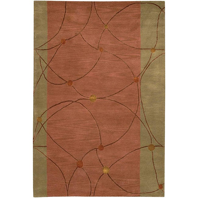 Shop Artist S Loom Hand Tufted Contemporary Geometric Rug 5 X 7 6