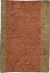 Artist's Loom Hand-tufted Contemporary Geometric Rug (7'9 x 10'6) - Thumbnail 1