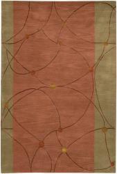 Artist's Loom Hand-tufted Contemporary Geometric Rug (7'9 x 10'6) - Thumbnail 2