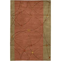 Artist's Loom Hand-tufted Contemporary Geometric Rug - 7'9 x 10'6