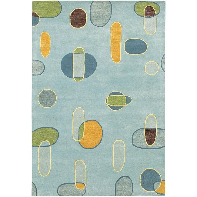 Artist's Loom Hand-tufted Contemporary Geometric Rug (7'9 x 10'6)