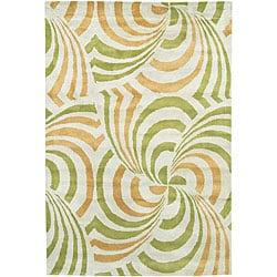 Artist's Loom Hand-tufted Contemporary Geometric Rug (5' x 7'6) - Thumbnail 0