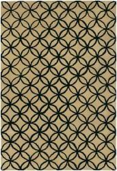 Hand-Tufted Mandara Beige New Zealand Wool Area Rug (5' x 7'6) - Thumbnail 2