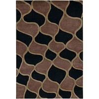 Artist's Loom Hand-tufted Contemporary Geometric Wool Rug - 5' x 7'6
