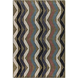 Artist's Loom Hand-tufted Contemporary Geometric Wool Rug (5'x7'6)