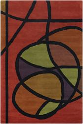 Artist's Loom Hand-tufted Contemporary Geometric Wool Rug (7'9x10'6) - Thumbnail 2