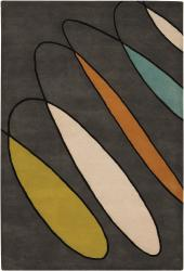 Artist's Loom Hand-tufted Contemporary Geometric Wool Rug (5'x7'6) - Thumbnail 2