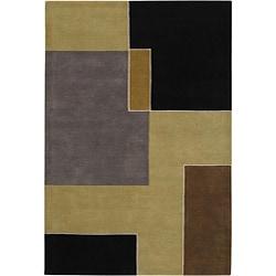 Artist's Loom Hand-tufted Contemporary Geometric Wool Rug (5'x7'6) - Thumbnail 0