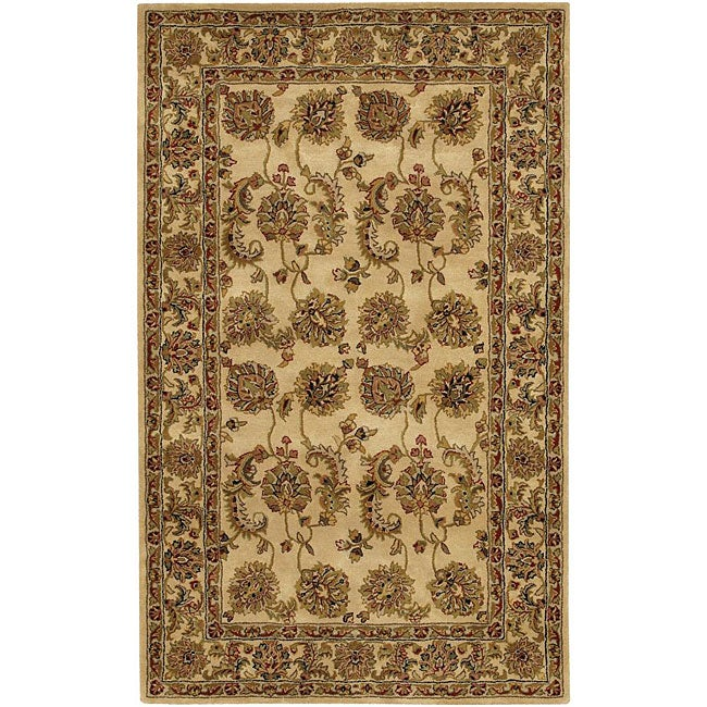 Artist's Loom Hand-tufted Traditional Oriental Wool Rug - 5' x 7'6