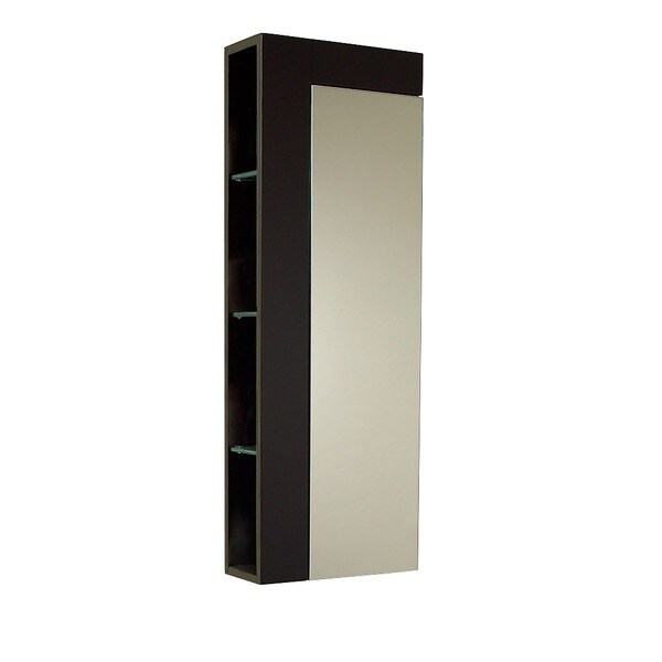 Bathroom Mirror Door fresca espresso bathroom linen cabinet with large mirror door