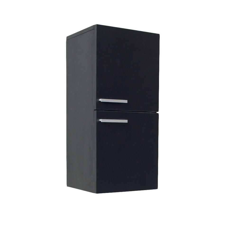 Fresca Black Bathroom Linen Cabinet
