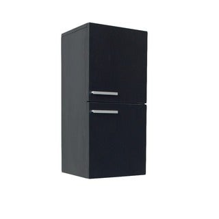 Fresca Black Bathroom Linen Cabinet