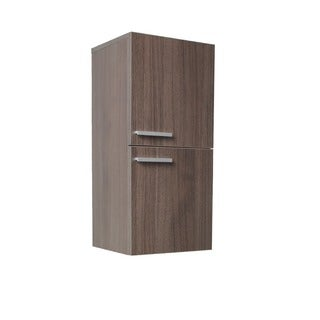 Fresca Grey Oak Bathroom Linen Side Cabinet