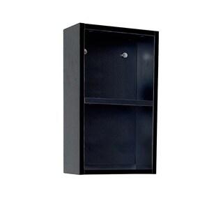 Fresca Black Open Storage Bathroom Linen Cabinet