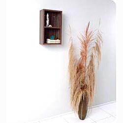Fresca Walnut Open Storage Bathroom Linen Cabinet - Thumbnail 2