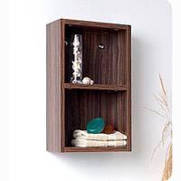 Fresca Walnut Open Storage Bathroom Linen Cabinet