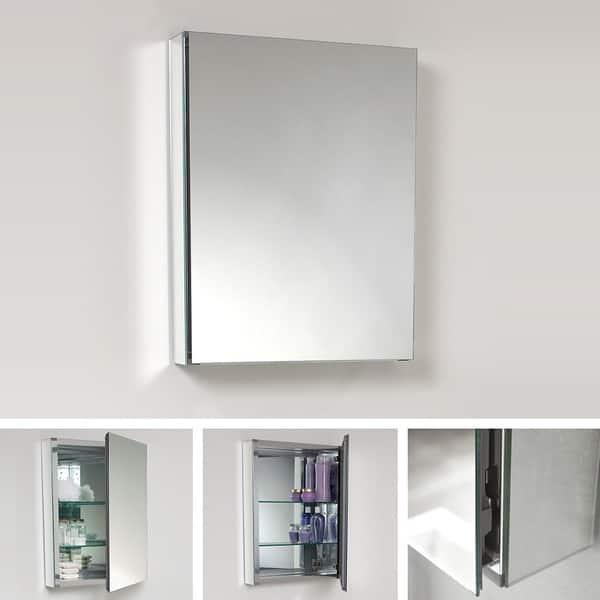 Shop Fresca Small Bathroom Mirror Medicine Cabinet Overstock