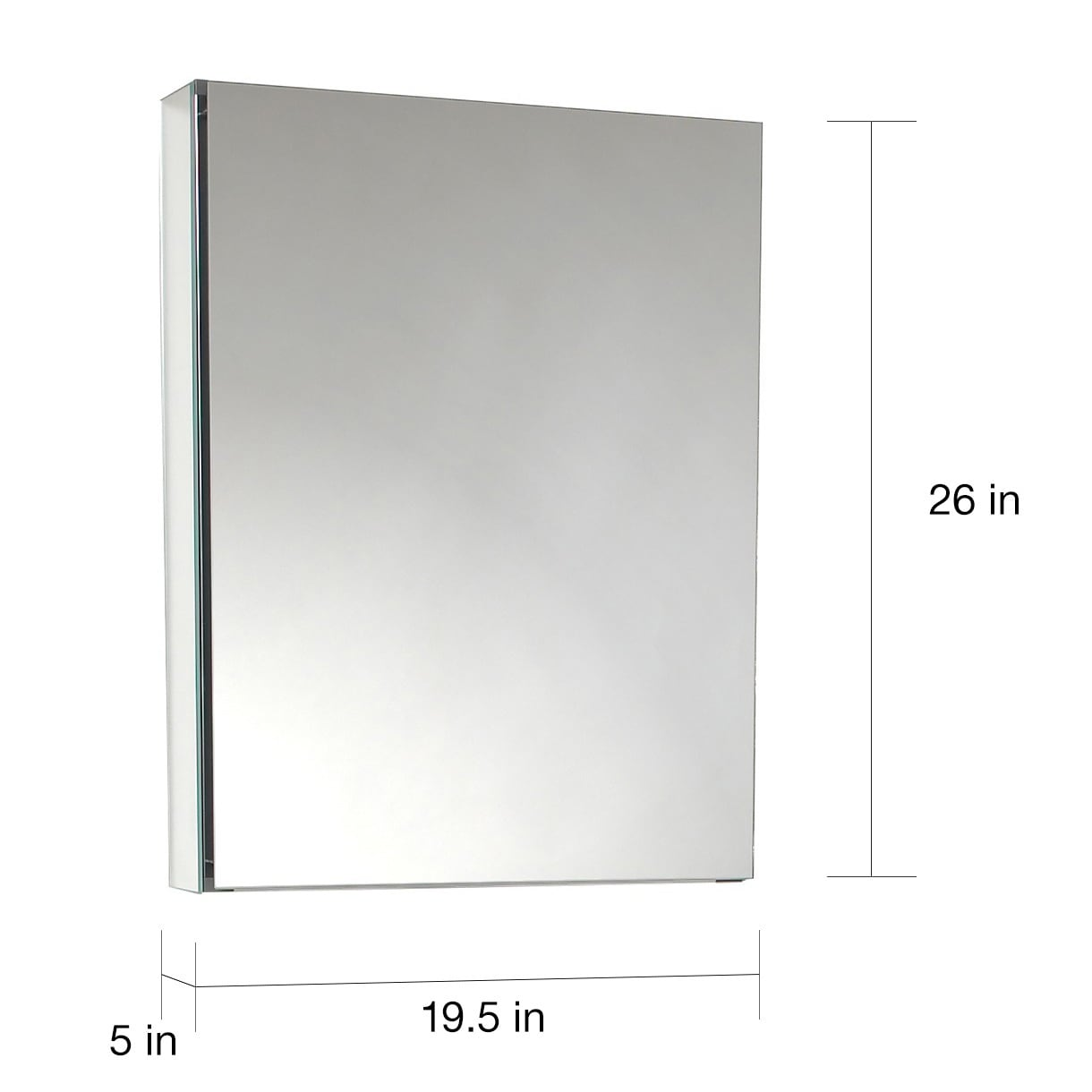 Fresca Small Bathroom Mirror Medicine Cabinet Overstock 5202766