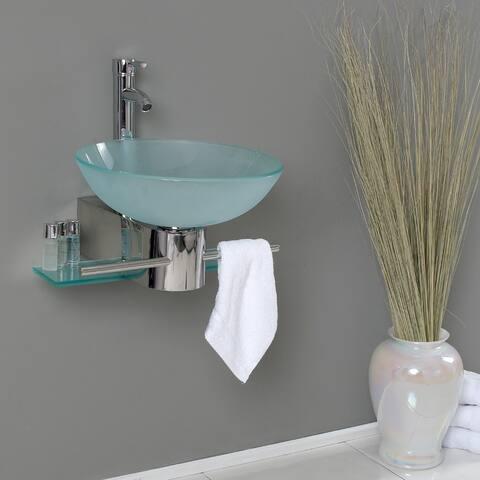Fresca Cristallino Glass Bathroom Vanity