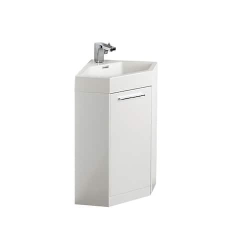 Fresca Coda White Corner Bathroom Vanity