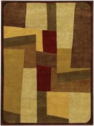 Hand-knotted Mandara Multicolor Wool Rug (5' x 7'6) - Thumbnail 2