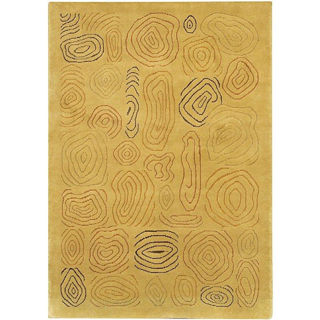 Artist's Loom Hand-knotted Contemporary Abstract Wool Rug (5'x7'6) - 5' x 7'6