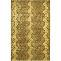 Artist's Loom Hand-knotted Contemporary Abstract Rug - 5' x 7'6