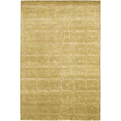 Artist's Loom Hand-knotted Contemporary Abstract Rug (5' x 7'6)